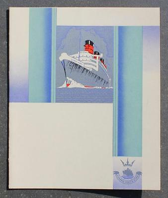 Cunard White Star Line Rms Queen Mary Private Dining Room Menu Jarvis Art Deco