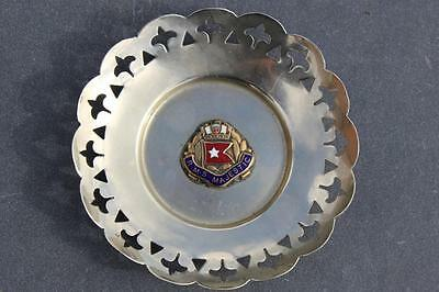 White Star Line Rms Majestic Ocean Liner Silver Plate Pierced Pin Dish Enamel