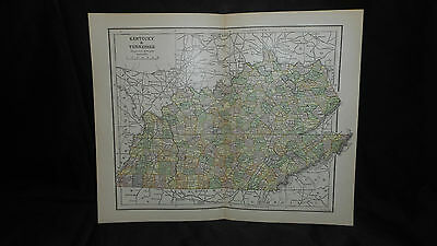 Antique Map Kentucky1882 Color Map  13 X 10 3/4  See Others In Store