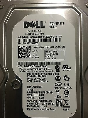 Lot of 14 DELL WD1601ABYS 160GB 7,200RPM