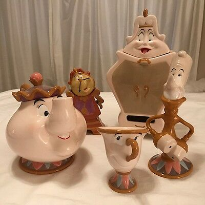 Disney's Beauty and the Beast 10th Anniversary Tea Set with original box