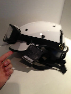 Pacific Helmets R6NV Dominator Rescue Safety Helmet White ANSI Z89.1-2014 BONUS!