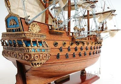 "San Felipe, Lead ship, Spanish Armada, Magnificent Wood model,  19"" Beauty"