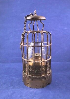 Antique Chinese Cage Style Opium Lamp