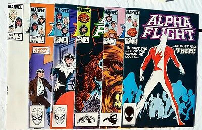 Alpha Flight Lot #6-11 1984 Marvel All 6 issues are NM