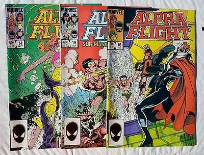 Alpha Flight Lot #14,15,16 1984 Marvel All 3 are in NM  condition