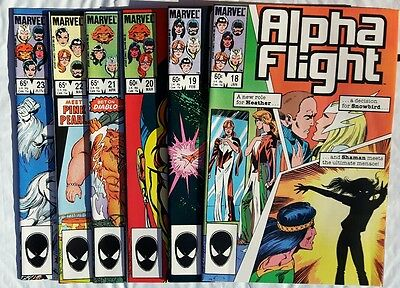 Alpha Flight Lot #18-23 1985 Marvel All 6 issues are NM