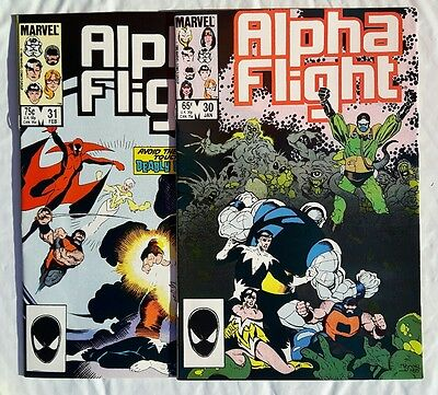 Alpha Flight Lot #30,31 1986 Both issues are NM