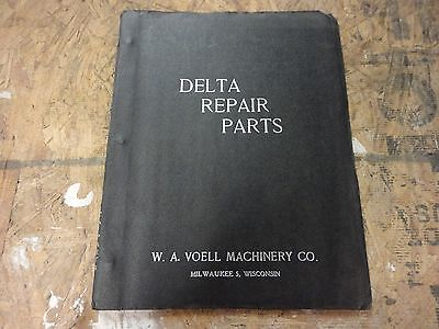 Delta Tools Parts Book and Price List Drills Saws Grinders Joiners Shapers etc