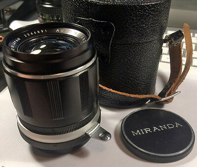 Miranda 28mm f/2.8 soligor lens w/ case VG+