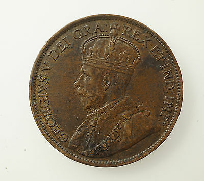 1914 Canada Large One Cent Coin - XF / AU
