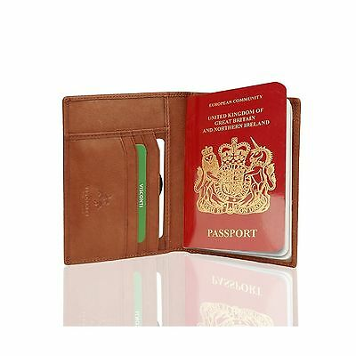 Visconti Soft Leather Secure RFID Blocking Passport Cover Wallet POLO 2201 FRSH!