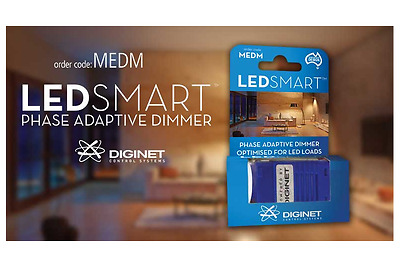 LED Downlight Dimmer Diginet MEDM Loads Down to 0% Clipsal & HPM Plate