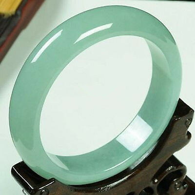 Chinese Natural Beautiful ice light green Jade Bangle Bracelet 58-62mm