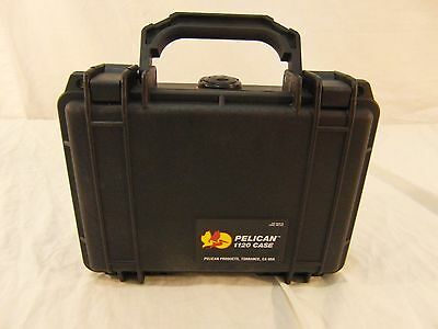 """New Without Tags Military Grade Pelican 1120 Black 8"""" X 6"""" X 3"""" Hard Case"""
