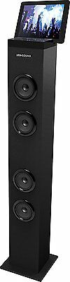 AR+SOUND  Bluetooth Tall Tower Stereo Speaker System with Built-In Radio