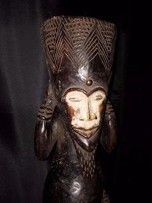 Old African Mask of Nigeria.The Ibiobio Male figure  Fes-4190