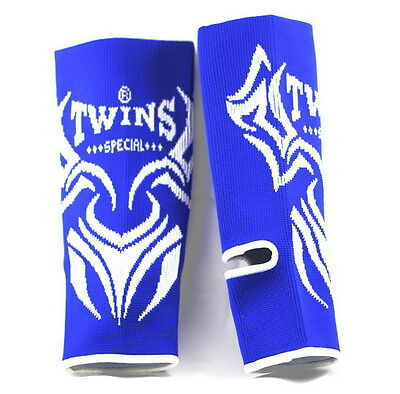 TWINS  Ankle Guards  Support Protector Muay Thai Boxing BLUE size L