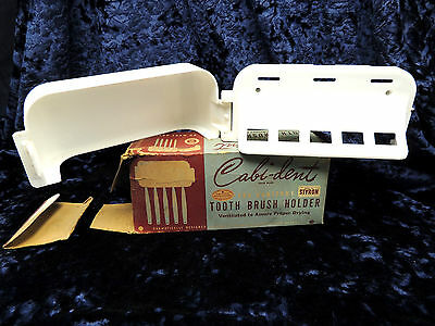 Antique Cabi-Dent Toothbrush Holder with Original Box Quality Molding Chicago IL