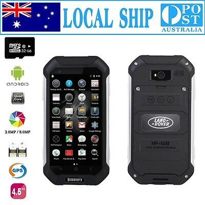Free 32GB Discovery Smartphone Quad Core Rugged Android Smartwild Nut1 V19 Black