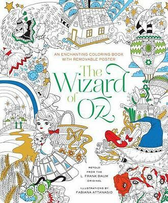The Wizard of Oz Coloring Book by Fabiana Attanasio (2016, Paperback)