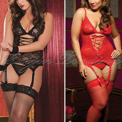 Women Sexy/Sissy Lingerie Babydoll Bodystocking Nightwear Underwear S-3XL UK