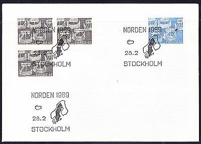 Sweden 1969 Northern Countries  First Day Cover - Unaddressed