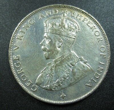 Straits Settlements 1/2 Dollar 1921 Silver Proof Like Malaysia Singapore Coin
