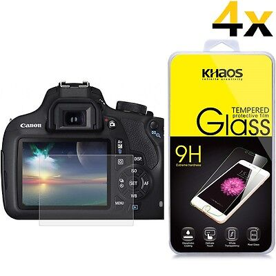 4x Khaos Tempered Glass Screen Protector For Canon EOS 1300D 1200D