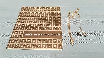 3pc Vintage 1960s Playboy Club PHOTOGRAPH SOUVENIR KEY NECKLACE PENDANT TIE CLIP