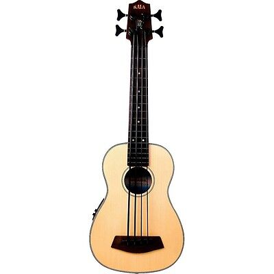 Kala Fretless U-Bass Spruce Top Mahogany Acoustic Ukulele Bass Uke w/ Gig Bag
