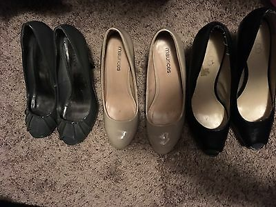 Lot Of Three Pair Womens High Heel Pumps Size 8.5. Used