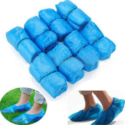 100PCS Boot Covers Plastic Disposable Shoe Covers Overshoes Waterproof