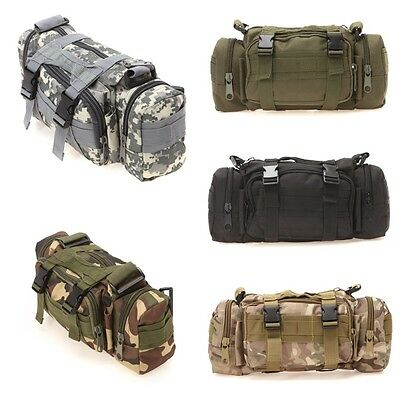 3P Military Tactical Backpack Canvas Waist Bag Hiking Camping Traveling Rucksack