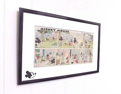 Original Disney Mickey Mouse Comic Mounted And Ready to Frame Christening Gift