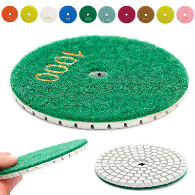 "Diamond Polishing Pads 3"" 80mm Wet/Dry Granite Stone Concrete Marble Disc 3 inch"