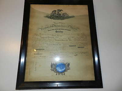 """1921 Theodore Roosevelt Jr Signed Naval Commission Document In Wood Frame 16X20"""""""