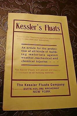 1900's KESSLER'S FLUATS NY Antique BOOKLET