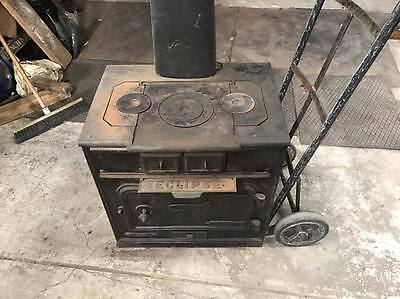 ECLIPSE Cast Iron Stove combustion wood fire heater OVEN 1910 20 30 40 retro