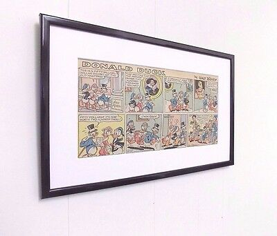 Original Disney Donald Duck Comic Mounted And Ready to Frame Christening Gift