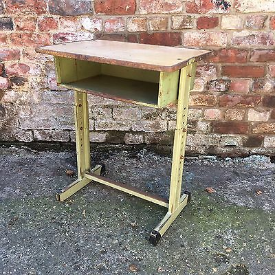 Single French Old school vintage childrens school desk shabby chic Table (a