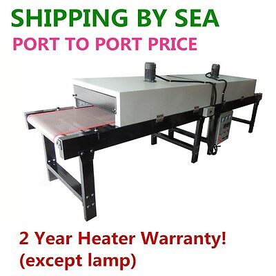 """380V 14000W Conveyor Tunnel Dryer 25.6"""" x 10 FT Belt for Screen Printing-By SEA"""