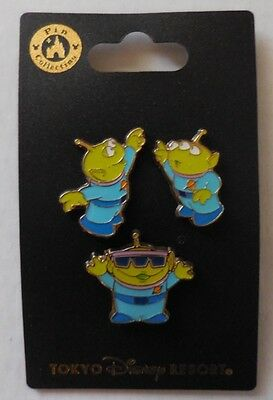 Disney pin TDR Toy Story Characters In The Park Little Green Men Mini 3 Pin Set