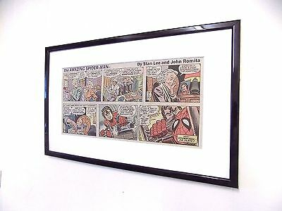 Original Spiderman Comic Mounted And Ready to Frame DC Marvel Birthday Gift