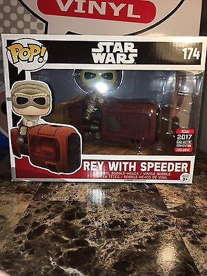 Funko Pop! Vinyl Rey With Speeder Star Wars 2017 Convention Exclusive Brand New!