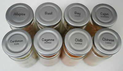 63 x CUSTOM 20-26mm (0.8-1inch) Round Spice Jar Labels Clear Gloss