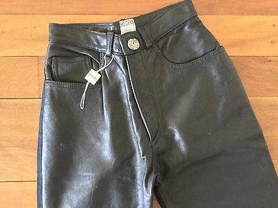 Auth Fabulous Moschino leather  high waist jeans