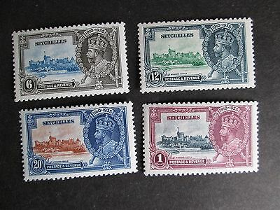 Seychelles 1935 Silver Jubilee set Mounted Mint
