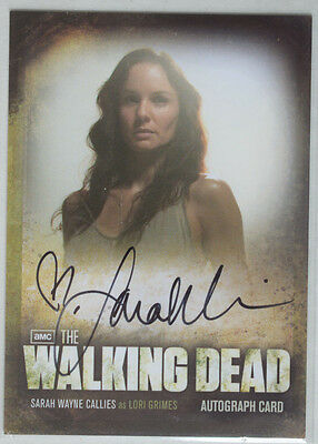 Walking Dead Season 2 Autograph Card A14 Sarah Wayne Callies as Lori Grimes