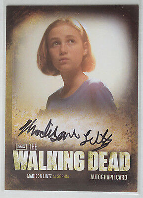 Walking Dead Season 2 Autograph Card A7 Madison Lintz as Sophia [Human]